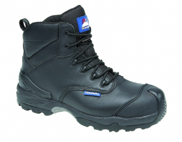 4110 Himalayan black leather waterproof metal free safety boot